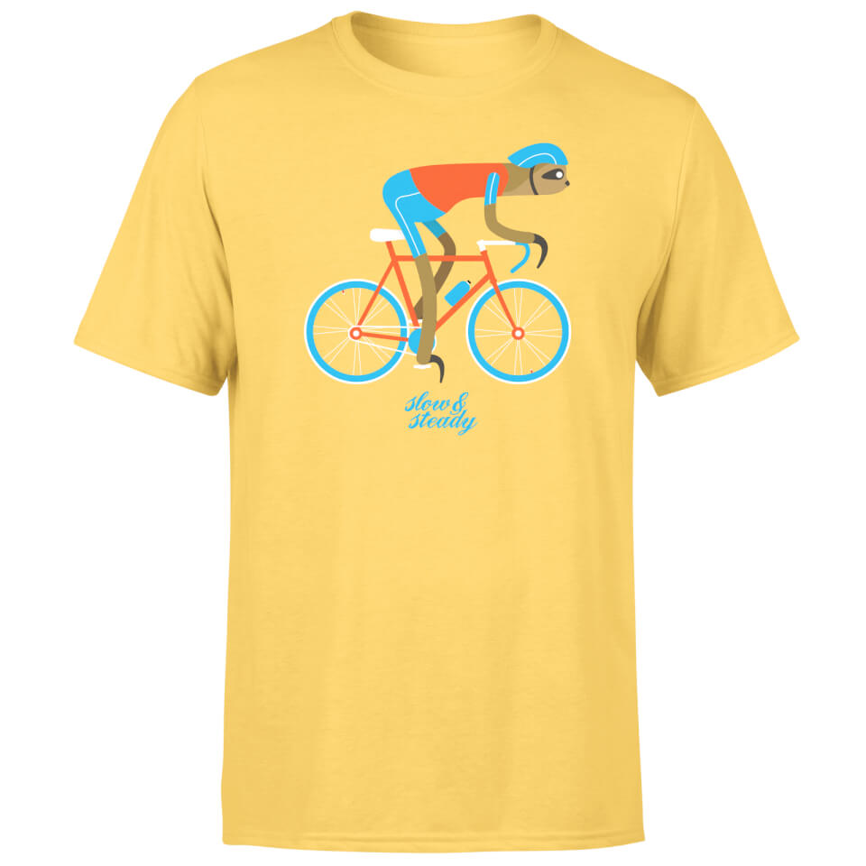slow-steady-sloth-men-yellow-t-shirt-m-yellow