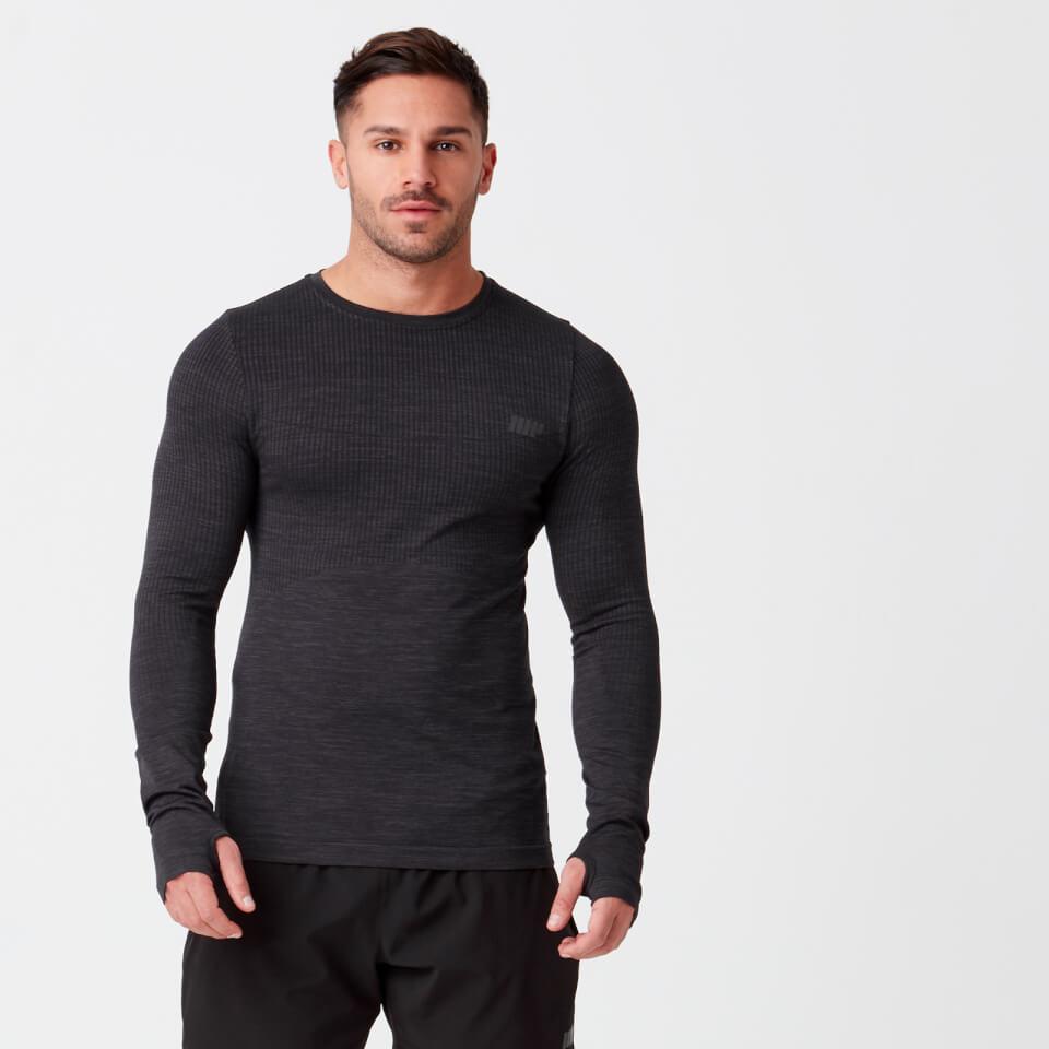Camiseta de manga larga sin costuras Sculpt - XL - Negro