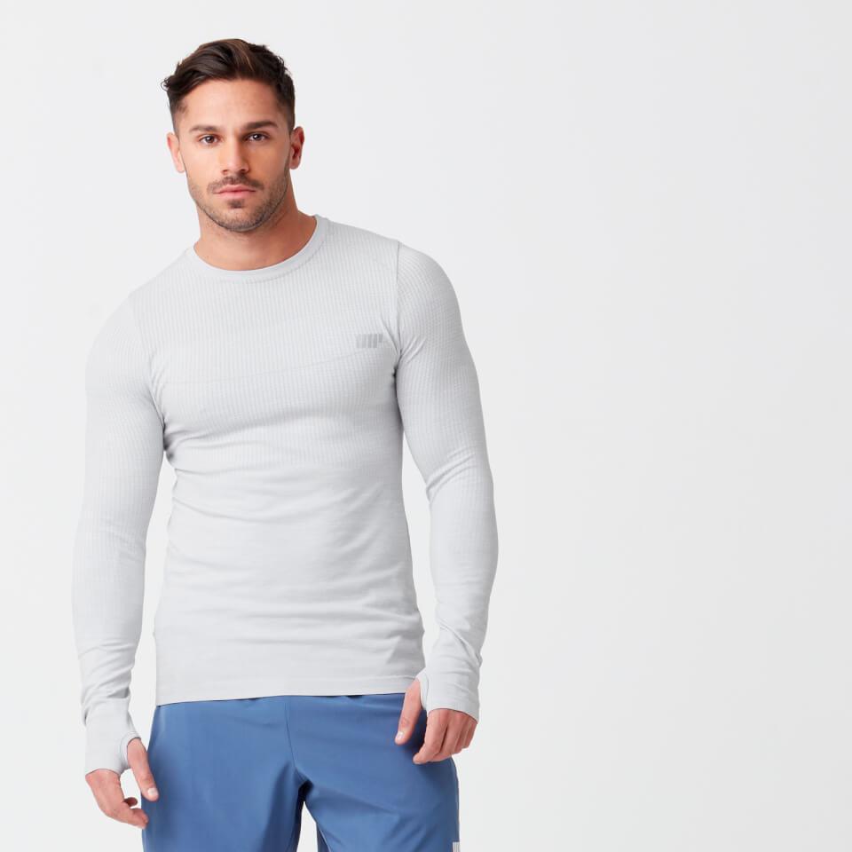 Camiseta de manga larga sin costuras Sculpt - L - Silver