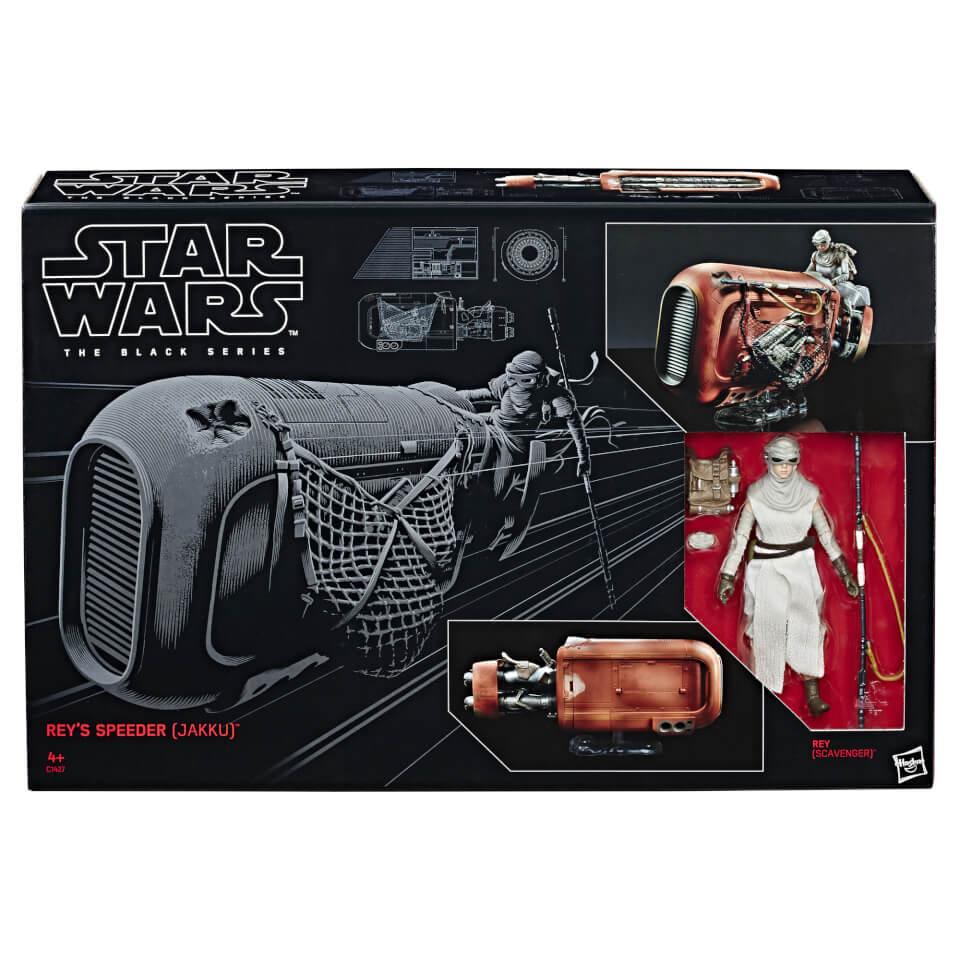 Deslizador de Rey (Jakku) y Figura - Star Wars: The Black Series