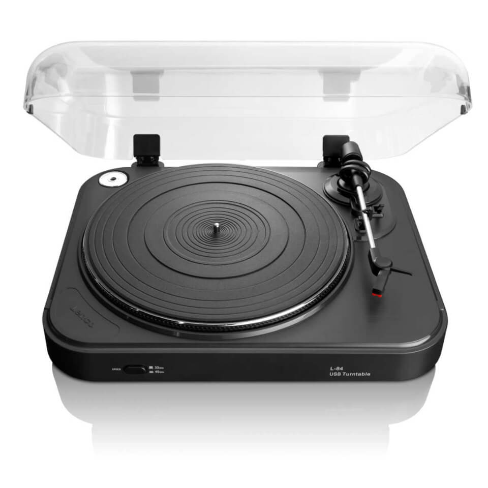 Lenco L 84 Turntable with USB Connection Black