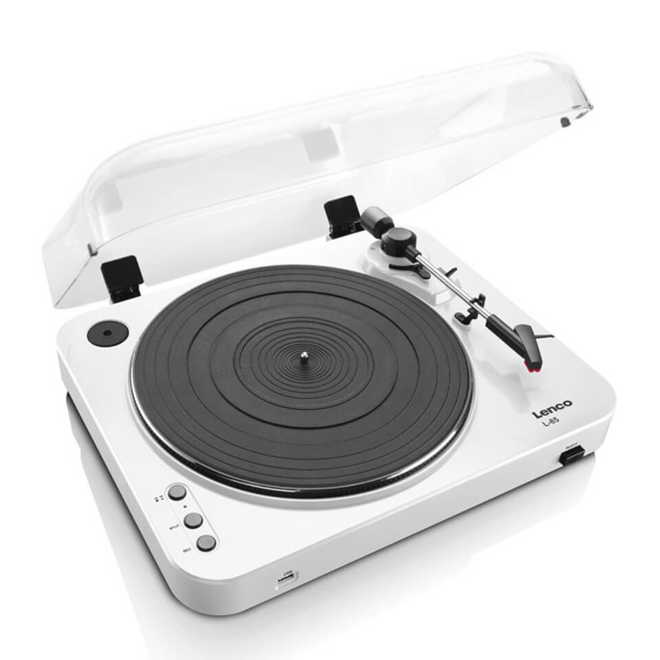 Ausgefallengadgets - Lenco L 85 Turntable with USB Direct Recording White - Onlineshop Sowas Will Ich Auch
