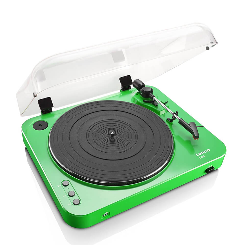 Lenco L 85 Turntable with USB Direct Recording Green