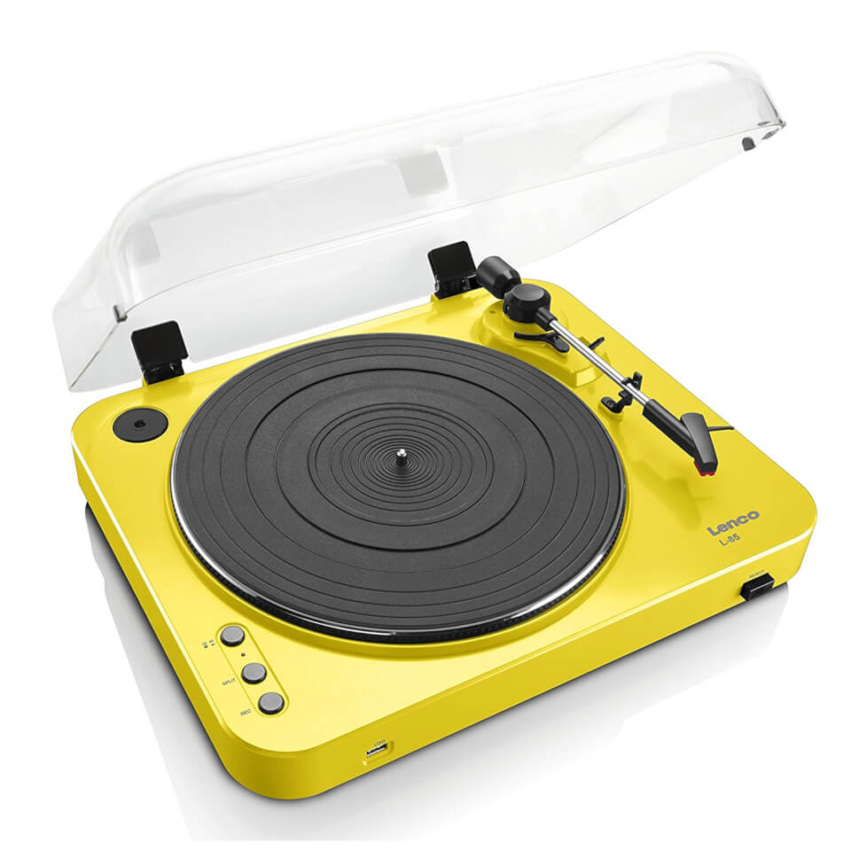 Lenco L 85 Turntable with USB Direct Recording Yellow