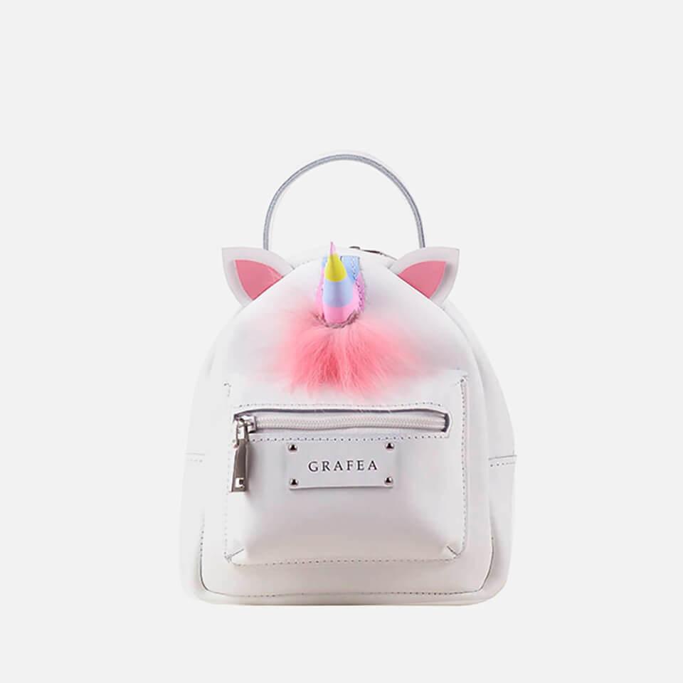 Grafea Women's Unicorn Mini Zippy Backpack - White