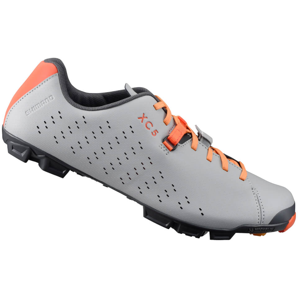 Shimano XC5 MTB Shoes - Grey/Orange - UK 14/EU 50