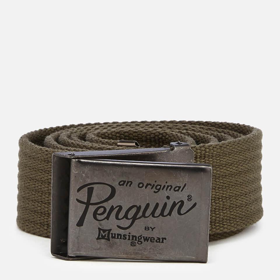 Original Penguin Men's Web Belt - Khaki
