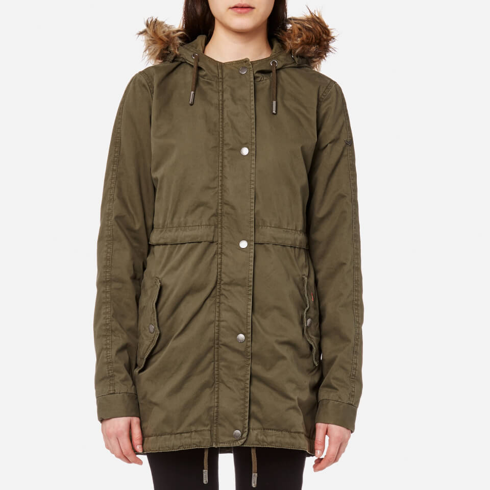 Superdry Women's Rookie Quilt Lined Parka Army Olive