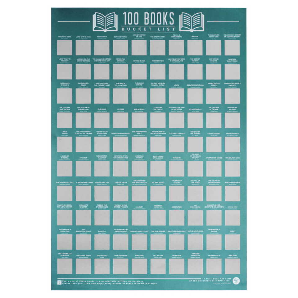 100 Books Bucket List Poster