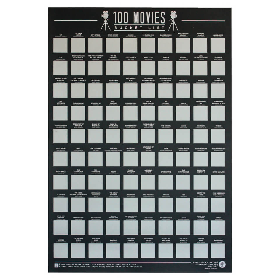 100 Movies Bucket List Poster