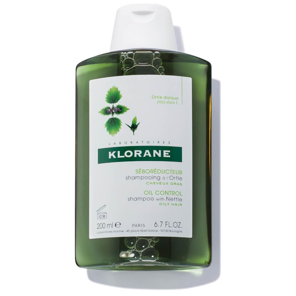 Klorane Talgregulerende Shampoo Met Brandnetel Vet Haar Fles 200ml Nieuwe Formule