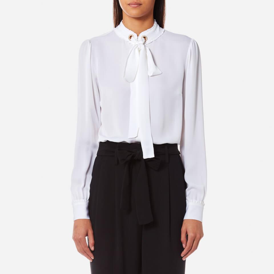 Michael Michael Kors Women S Grommet Neck Tie Blouse