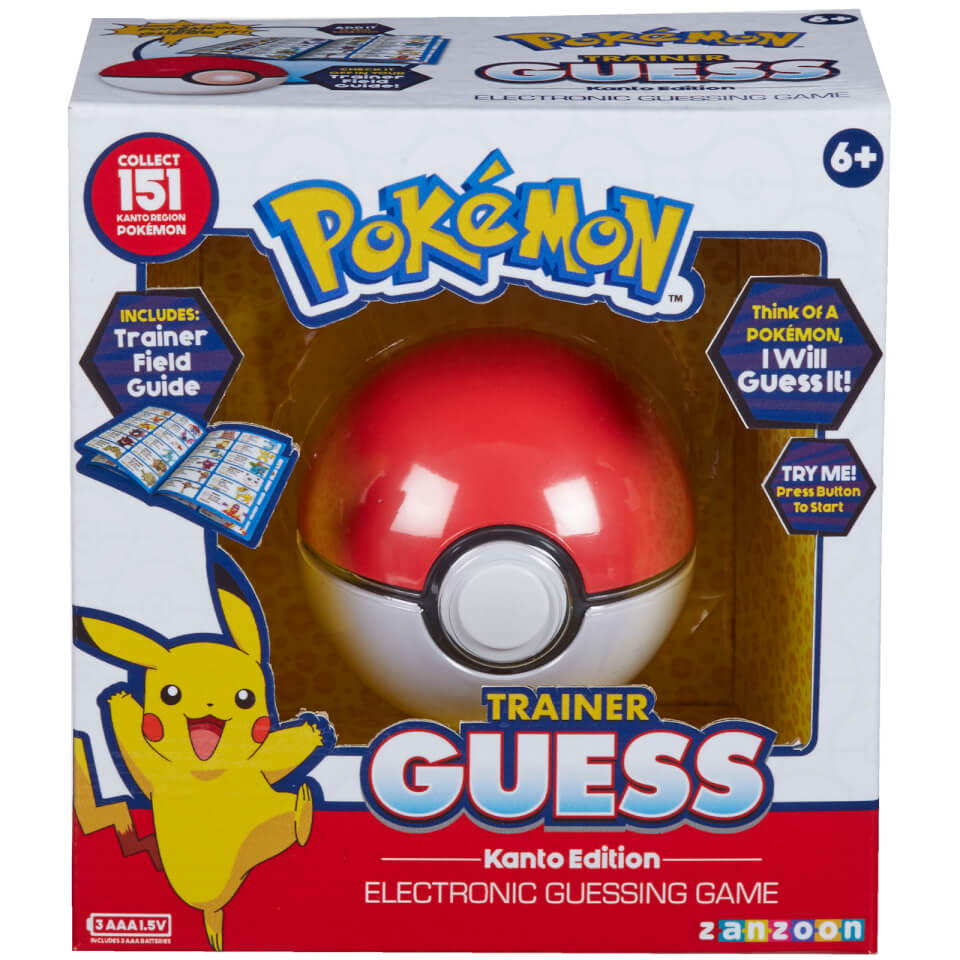 Pokemon Trainer Guess Kanto Edition Game