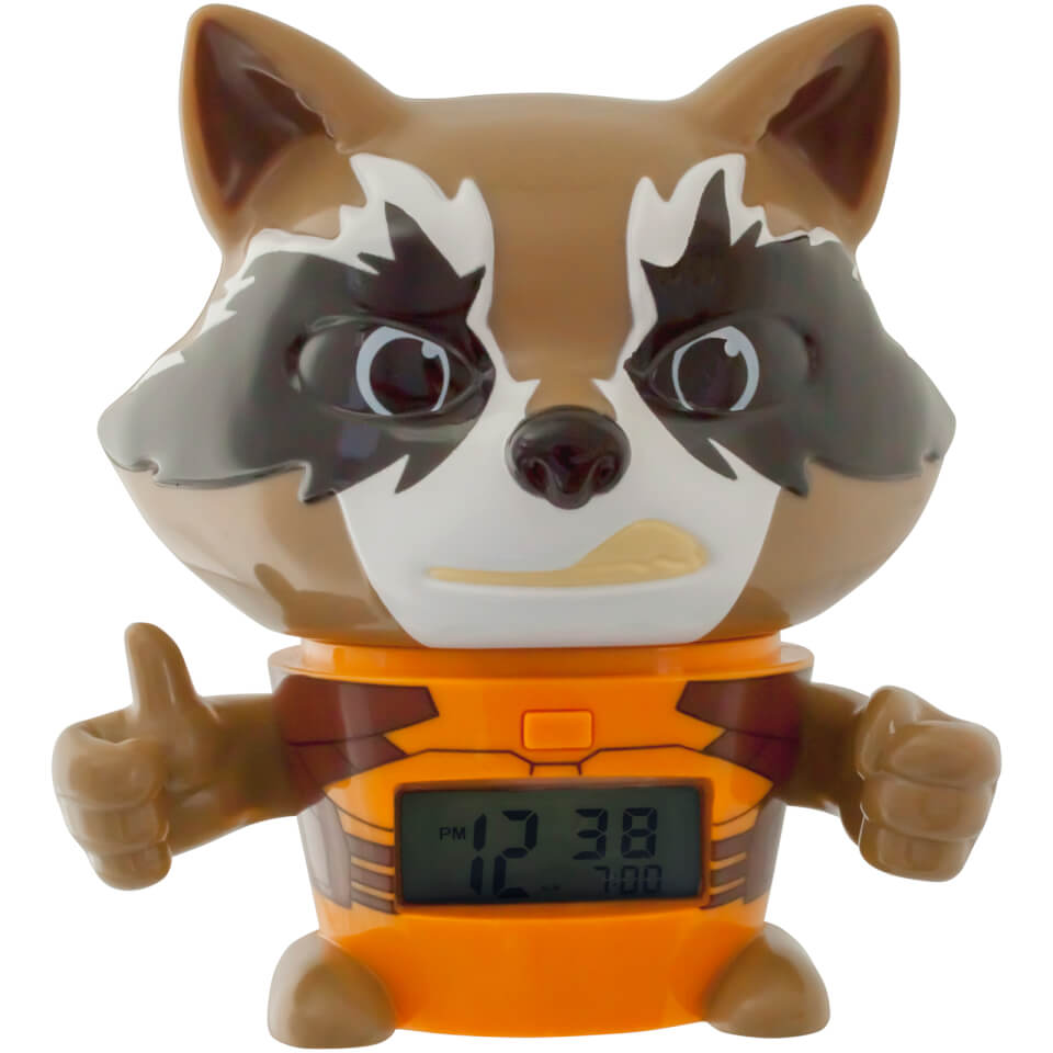 BulbBotz Guardians of the Galaxy Rocket Raccoon Clock