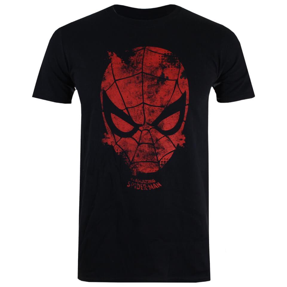 Marvel Men's Spider Man Webhead T Shirt Black XXL Schwarz