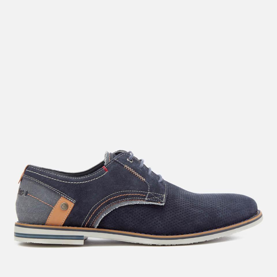 Wrangler Men's Tower Derby Suede Shoes - Navy - UK 7 - Azul