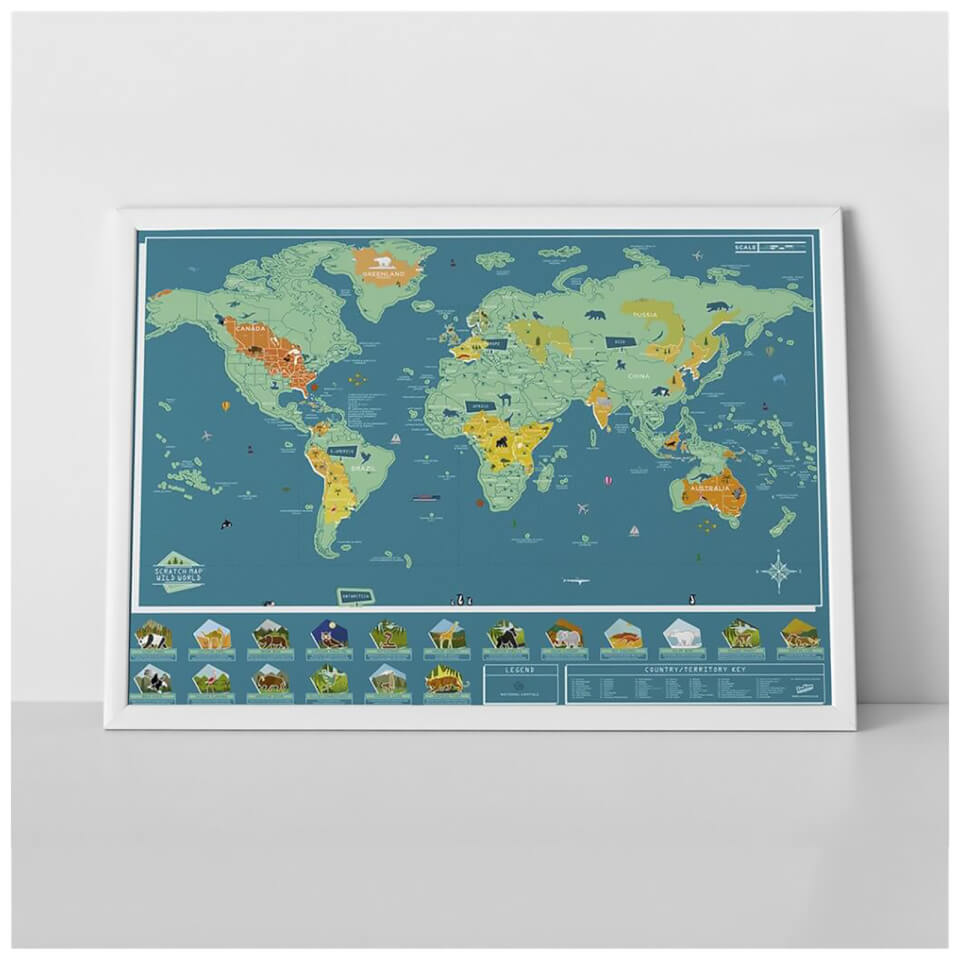 Scratch Map Wild World Animal Edition