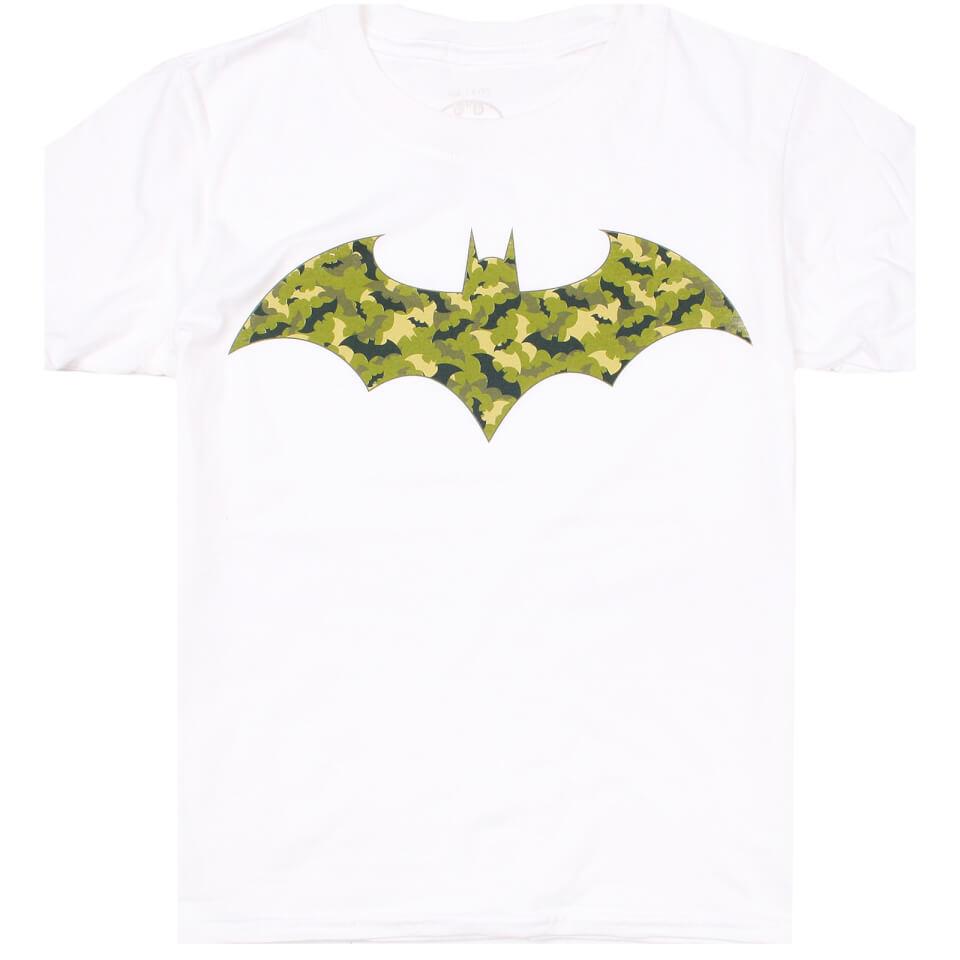 DC Comics Boys' Camo Bat T Shirt White Age 11 12 Weiß