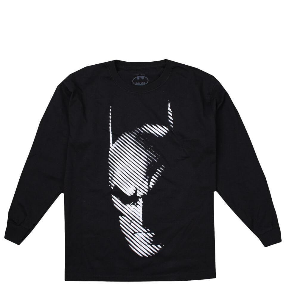 DC Comics Boys' Batman Noir Long Sleeve T Shirt Black Age 11 12 Schwarz