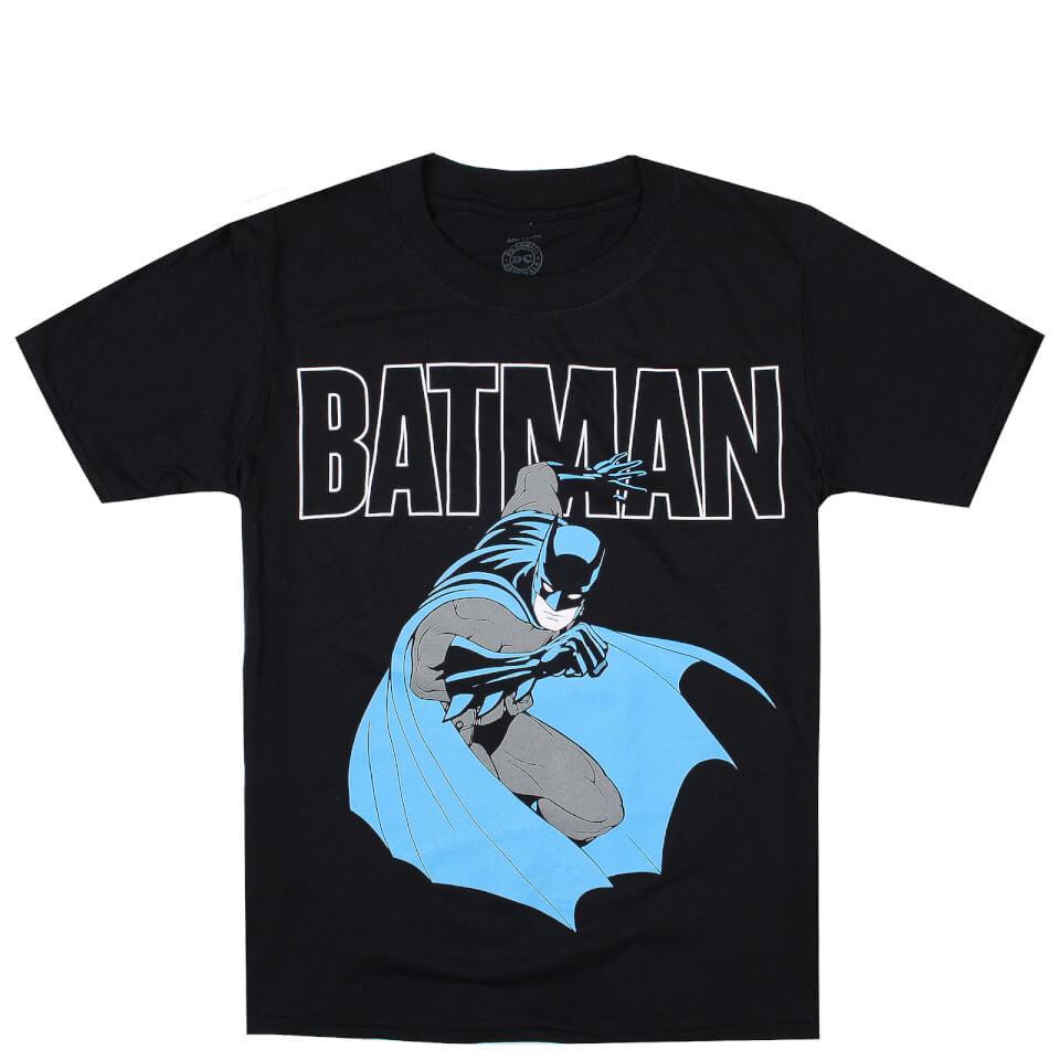 DC Comics Boys' Bat Attack T Shirt Black Age 11 12 Schwarz