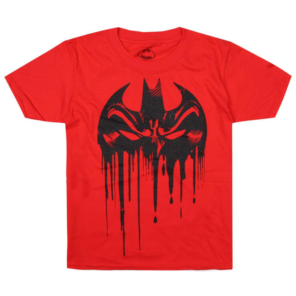 DC Comics Boys' Bat Mask T Shirt Red Age 11 12 Rot