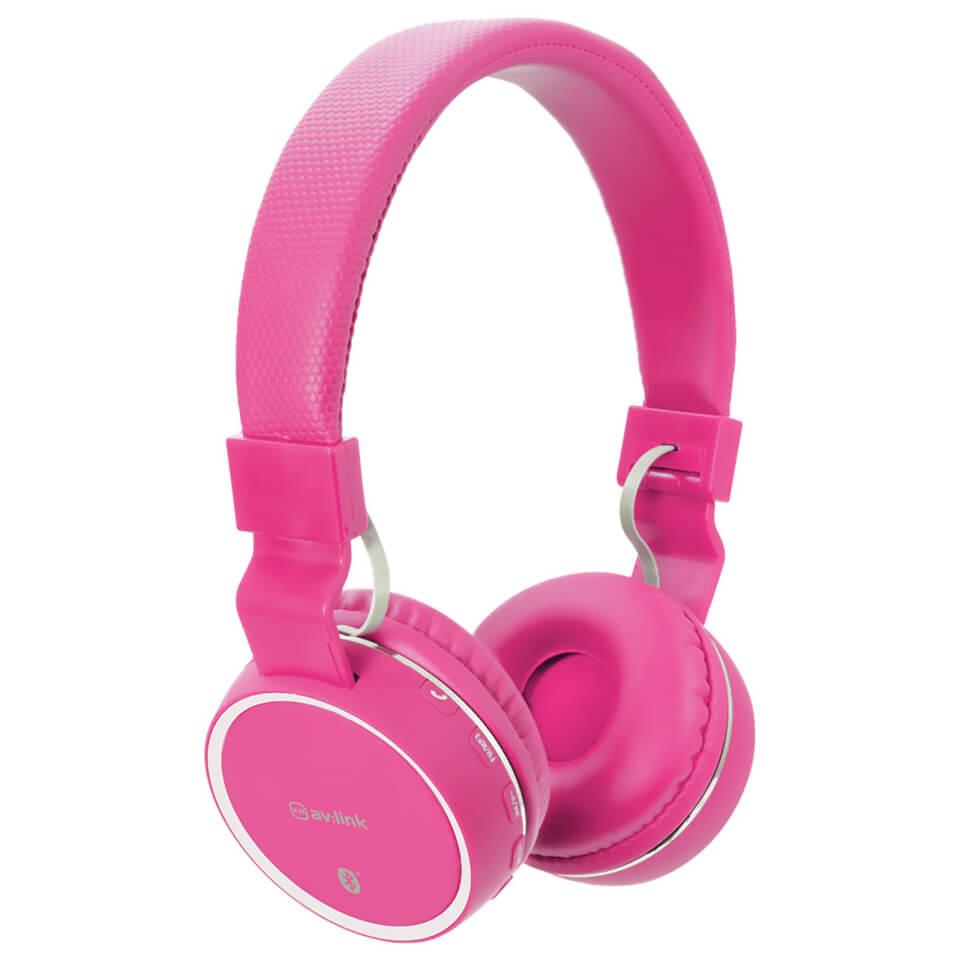 Auriculares Inalámbricos Bluetooth AV: Link (con radio FM incorporada) - Rosa