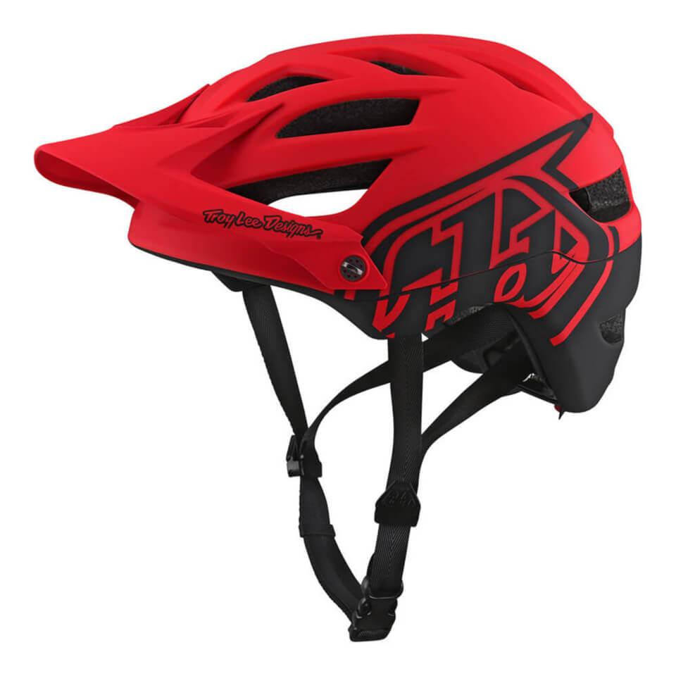Troy Lee Designs A1 MIPS Classic MTB Helmet - Red | Hjelme