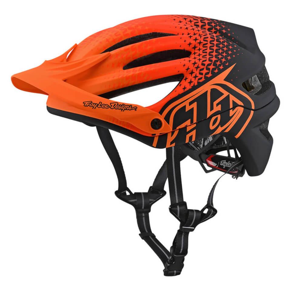 Troy Lee Designs A2 MIPS Starburst MTB Helmet - Orange | Hjelme