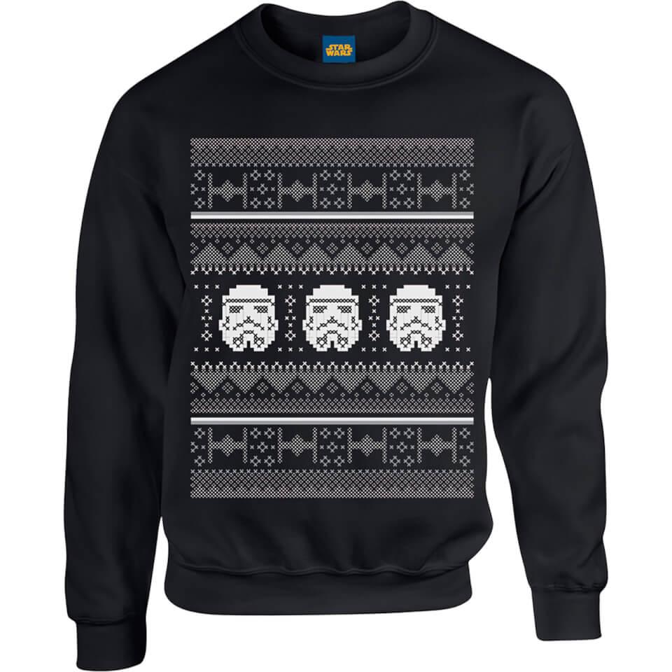 Star Wars Christmas Stormtrooper Weihnachtspullover Schwarz XXL Schwarz
