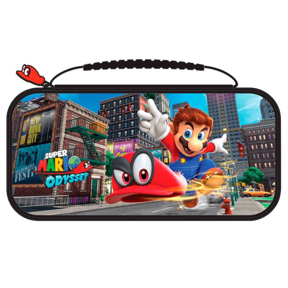 Nintendo switch deluxe travel case super mario odyssey for Housse 2ds pokemon