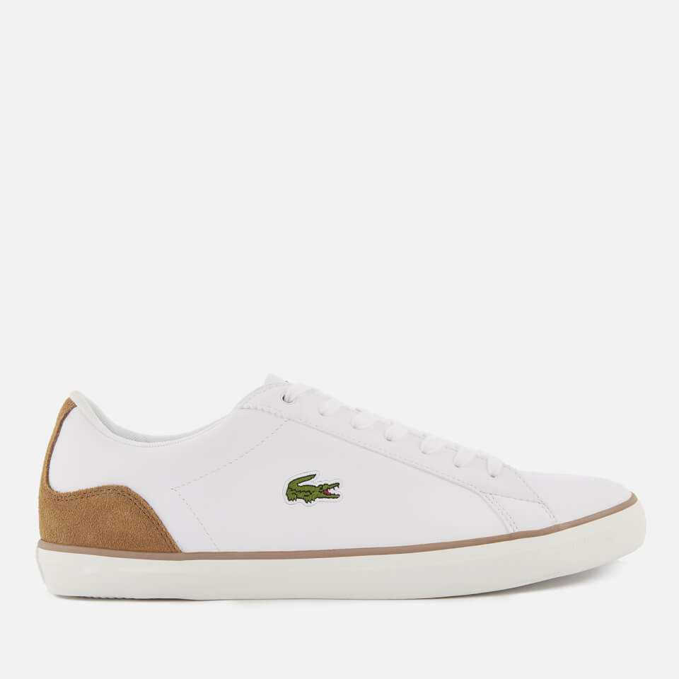 c4ff0af3e Lacoste Men s Lerond 118 1 Leather Trainers - White Light Brown ...