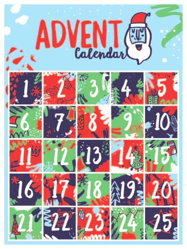Advent Calendar A4 Print