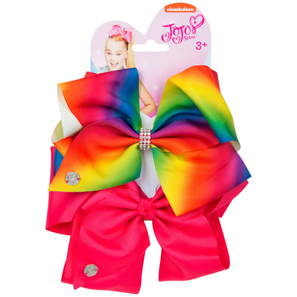 Jojo Siwa Bow Set Rainbow Magenta Toys Zavvi