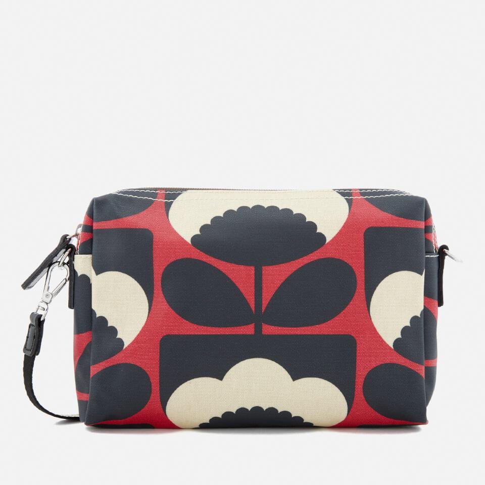 Orla Kiely Womens Small Cross Body Bag Poppy Clothing Clutch Black