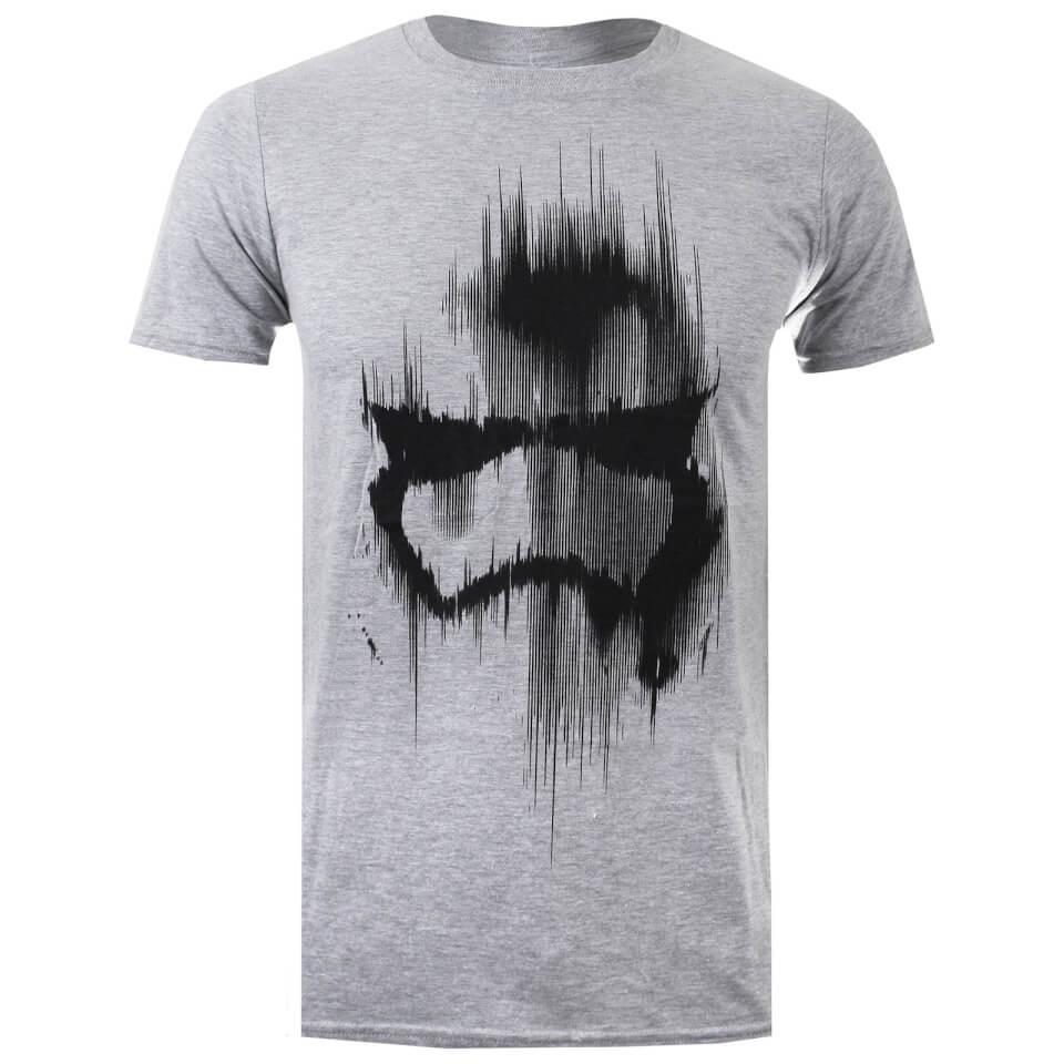 Star Wars Men's Trooper Mask T Shirt Grey Marl L Grau