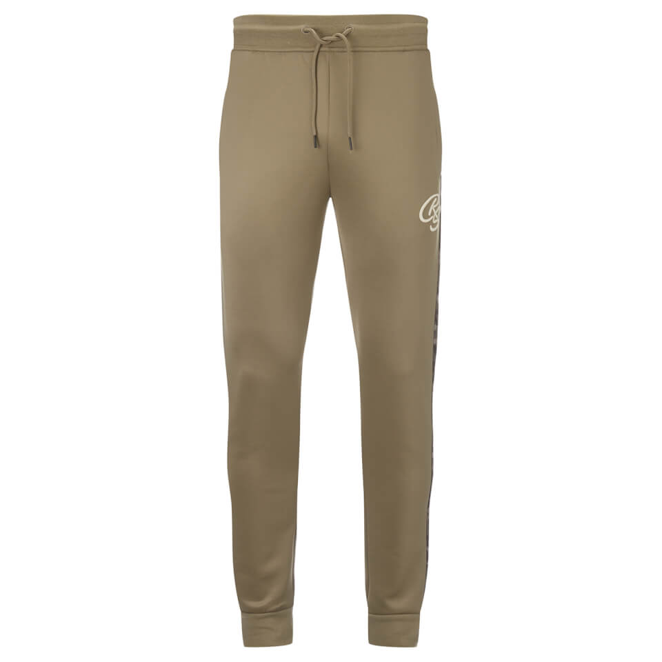 Crosshatch Men's Montana Tricot Sweatpants - Timber Wolf - L - Gris