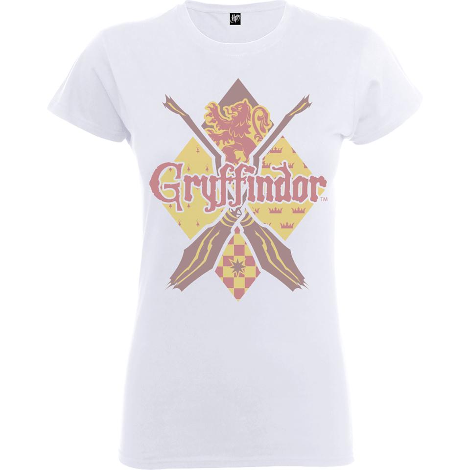 Harry Potter Gryffindor Women's White T-Shirt - L - White