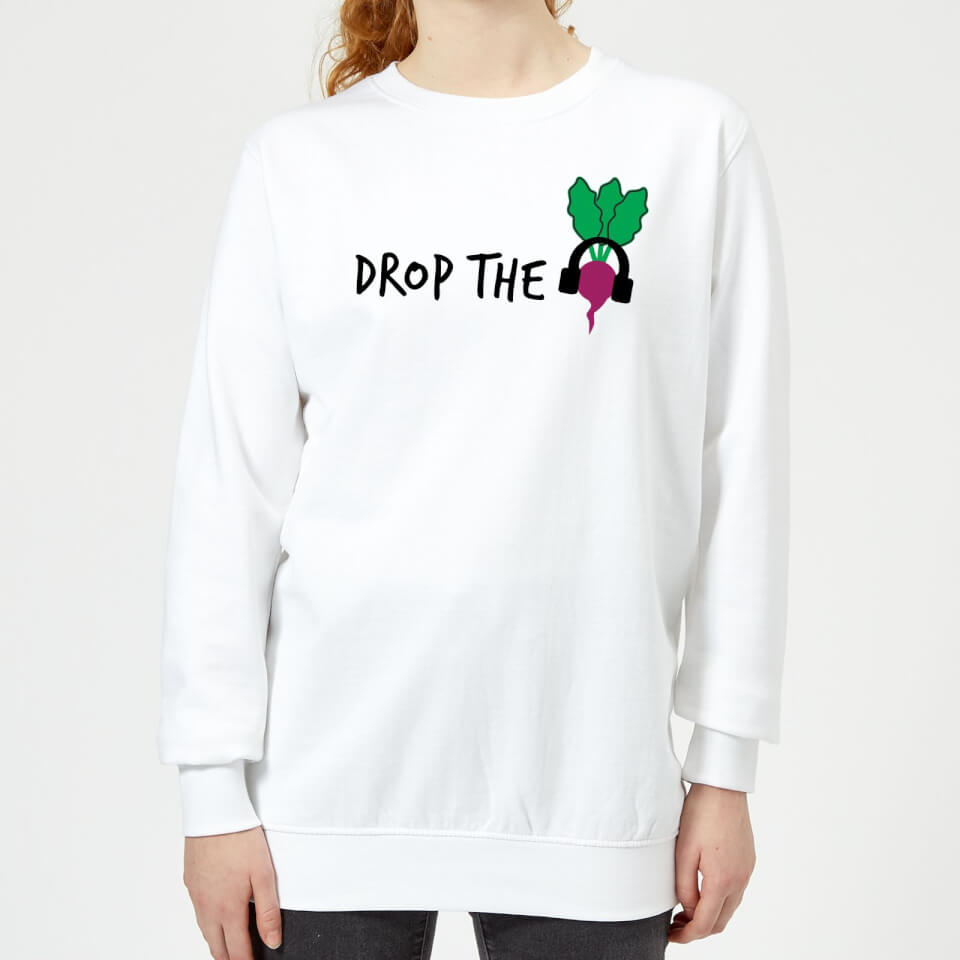 Drop the Beet Women's Sweatshirt - White - 4XL - Blanco