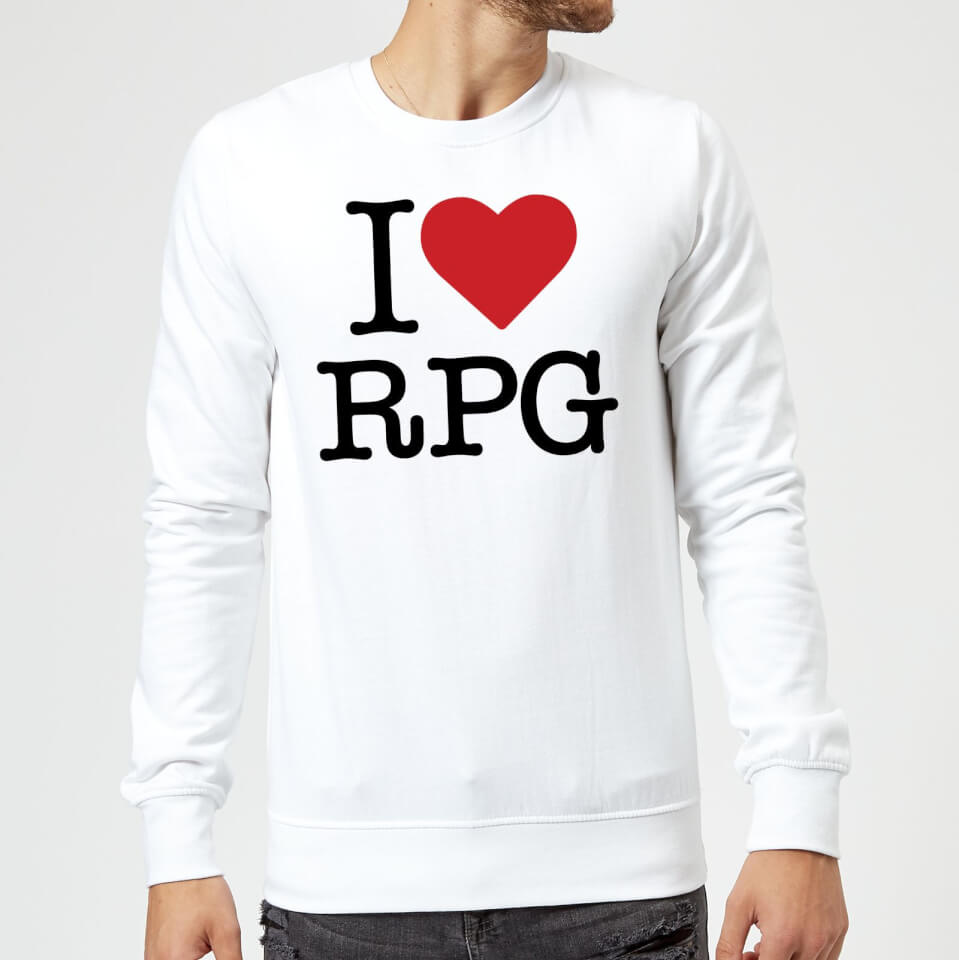 I Love RPG Sweatshirt - White - 3XL - White