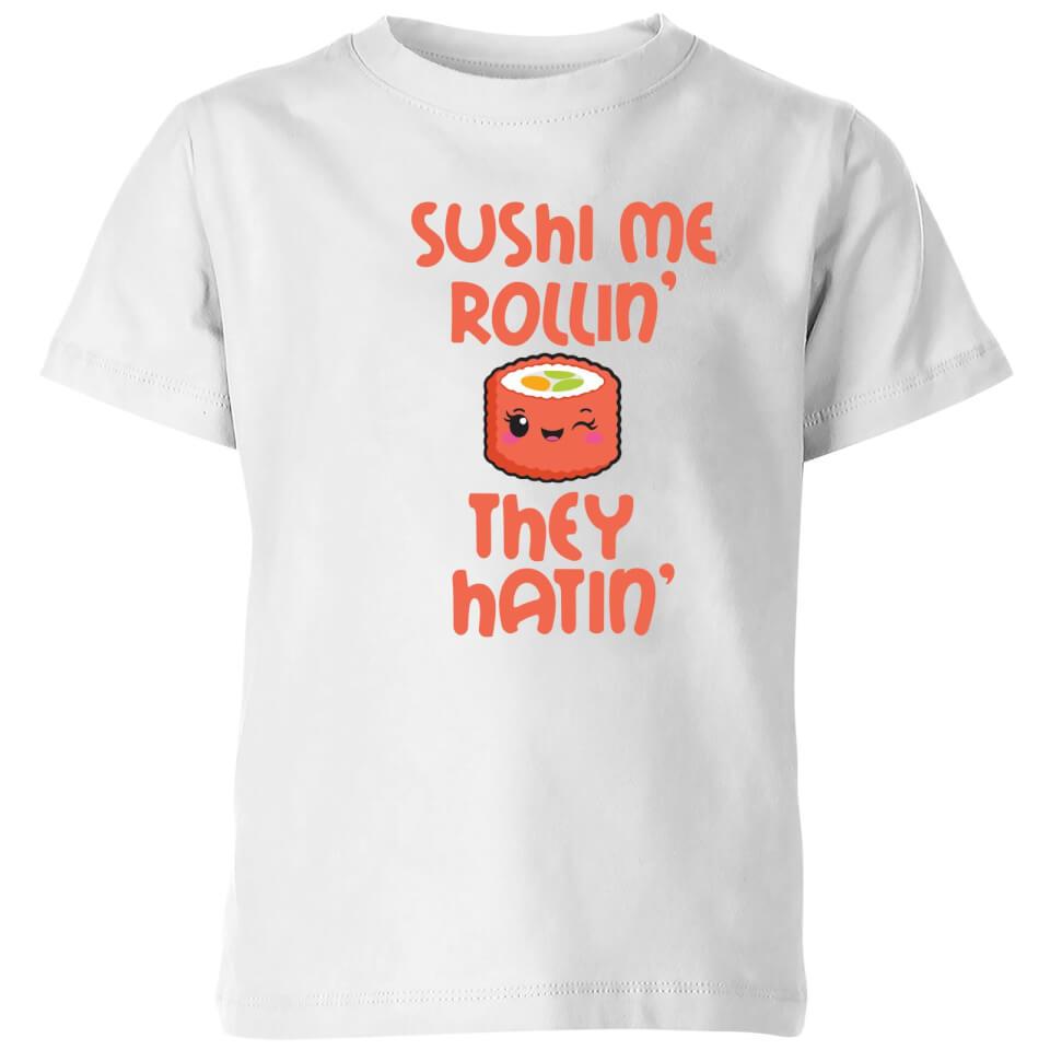 Camiseta Kawaii  Sushi Me Rollin' They Hatin'  - Niño - Blanco - 11-12 años - Blanco