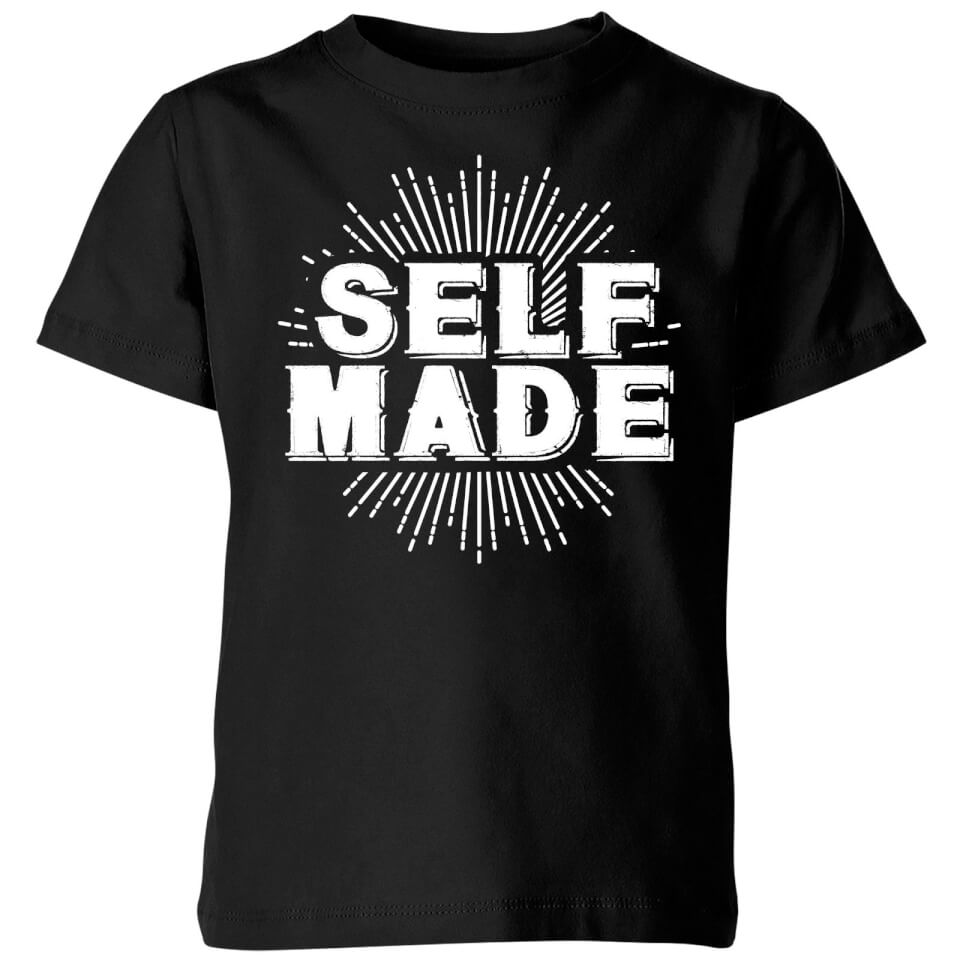 Self Made Kids' T-Shirt - Black - 7-8 Years - Black
