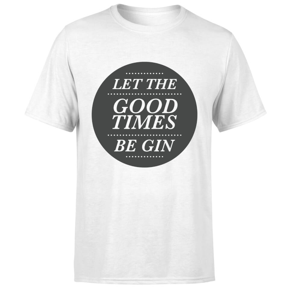 Camiseta  Let The Good Times Be Gin  - Hombre - Blanco - 3XL - Blanco