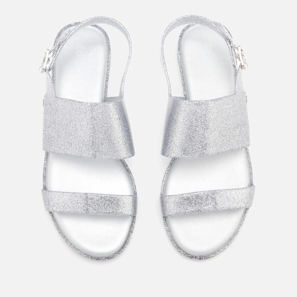 Melissa Women's Classy 19 Flat Sandals - Silver Glitter - UK 3 - Silver