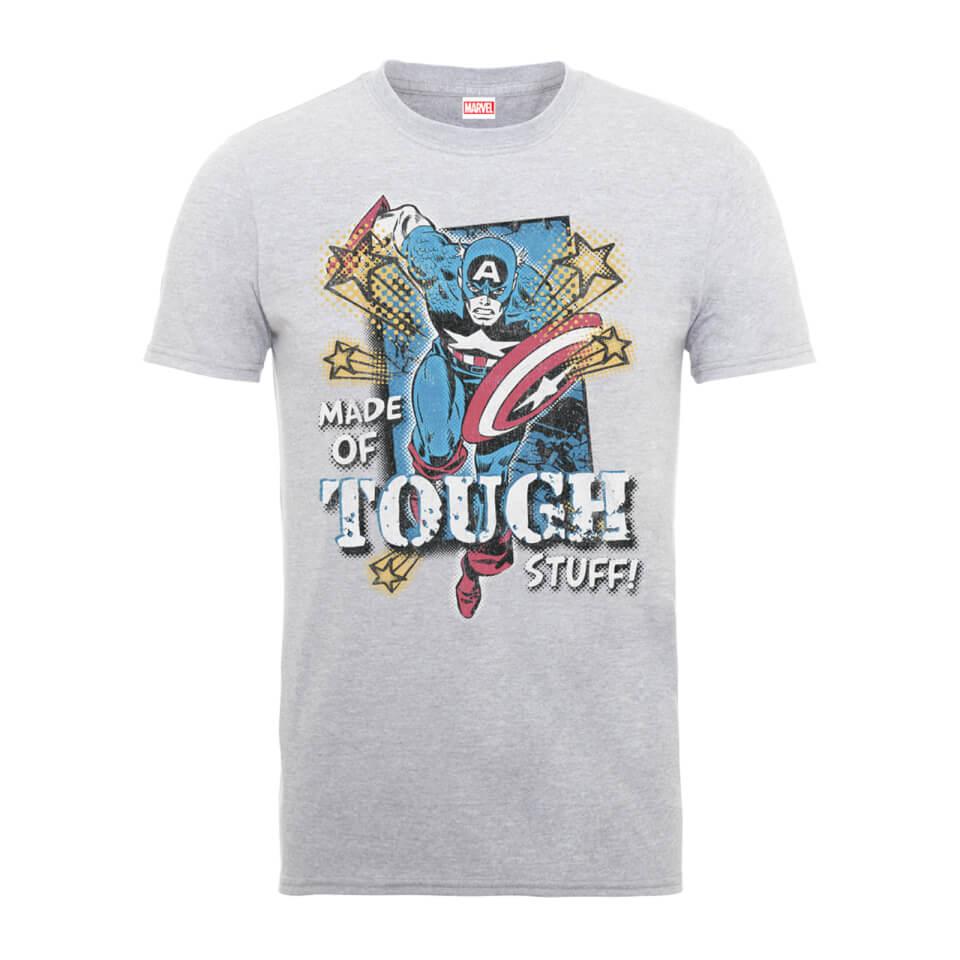 Marvel Comics Captain America Made Of Tough Stuff Männer T Shirt Grau XXL Grau
