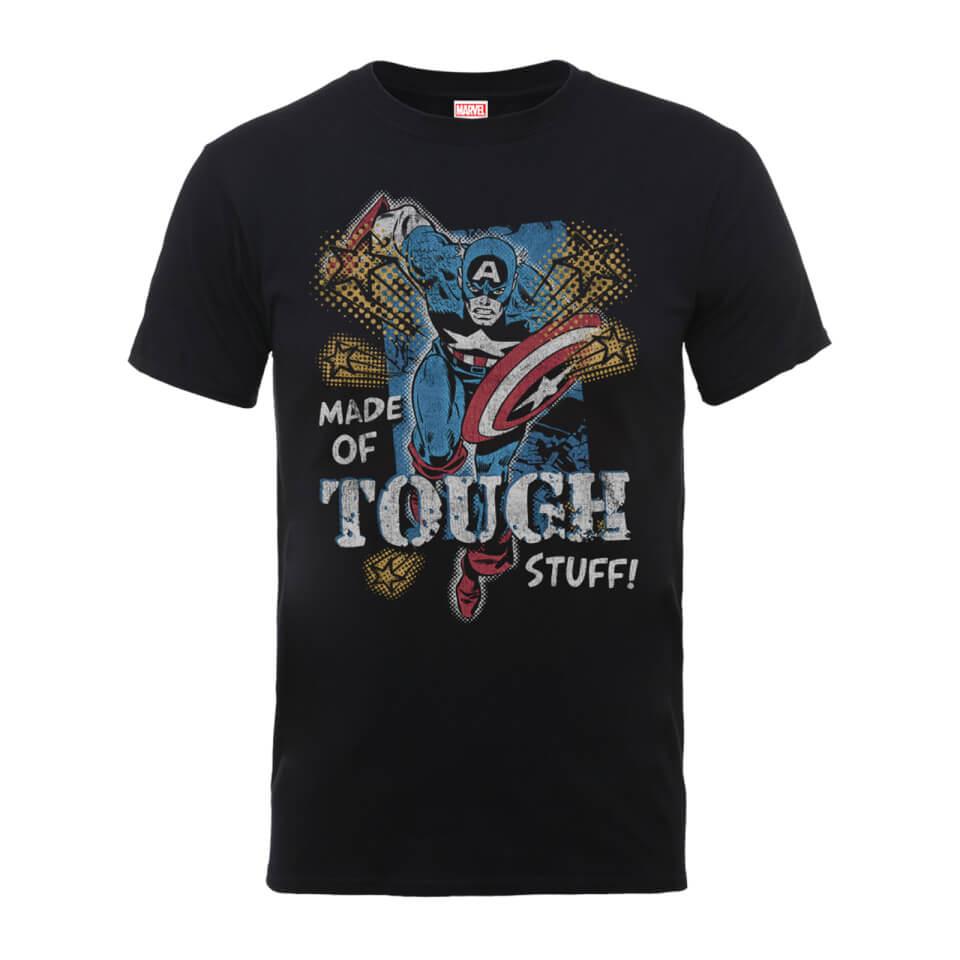 Marvel Comics Captain America Made Of Tough Stuff Männer T Shirt Schwarz XXL Schwarz