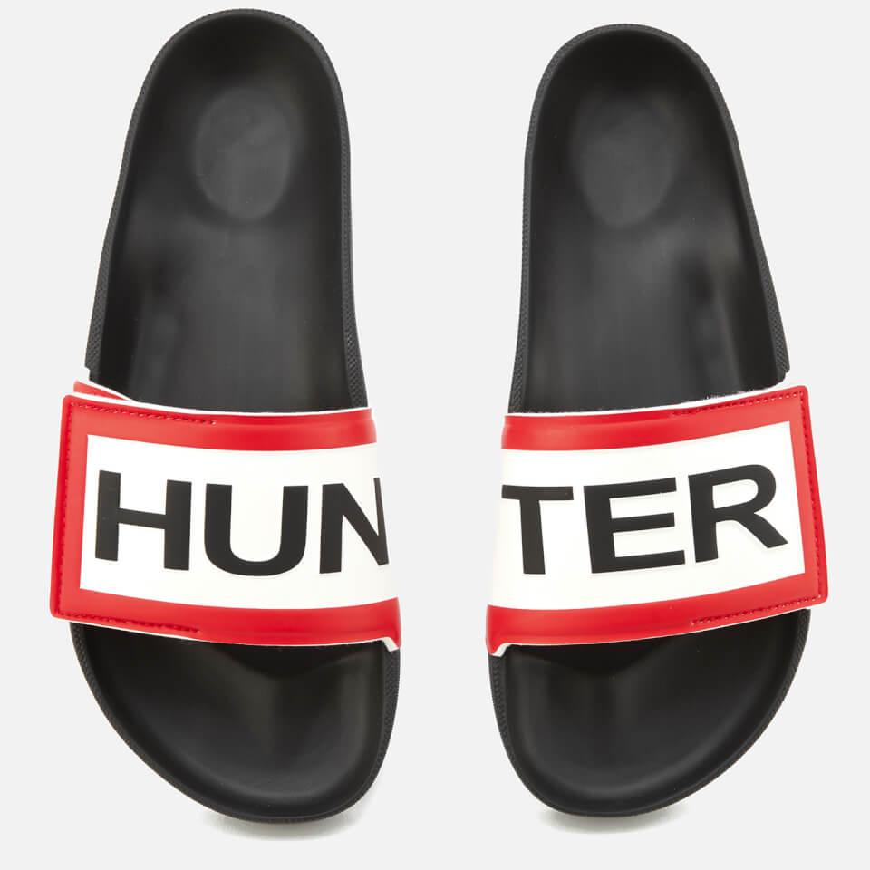 fc72564cc6d62b Hunter Men s Original Adjustable Logo Slide Sandals - Black Mens Footwear
