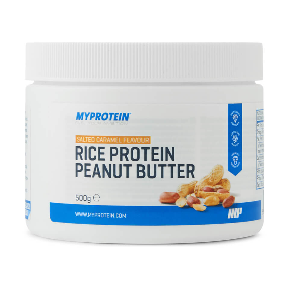 Mantequilla de Cacahuete con Proteína de Arroz - 500g - Nuevo - Caramelo Salado