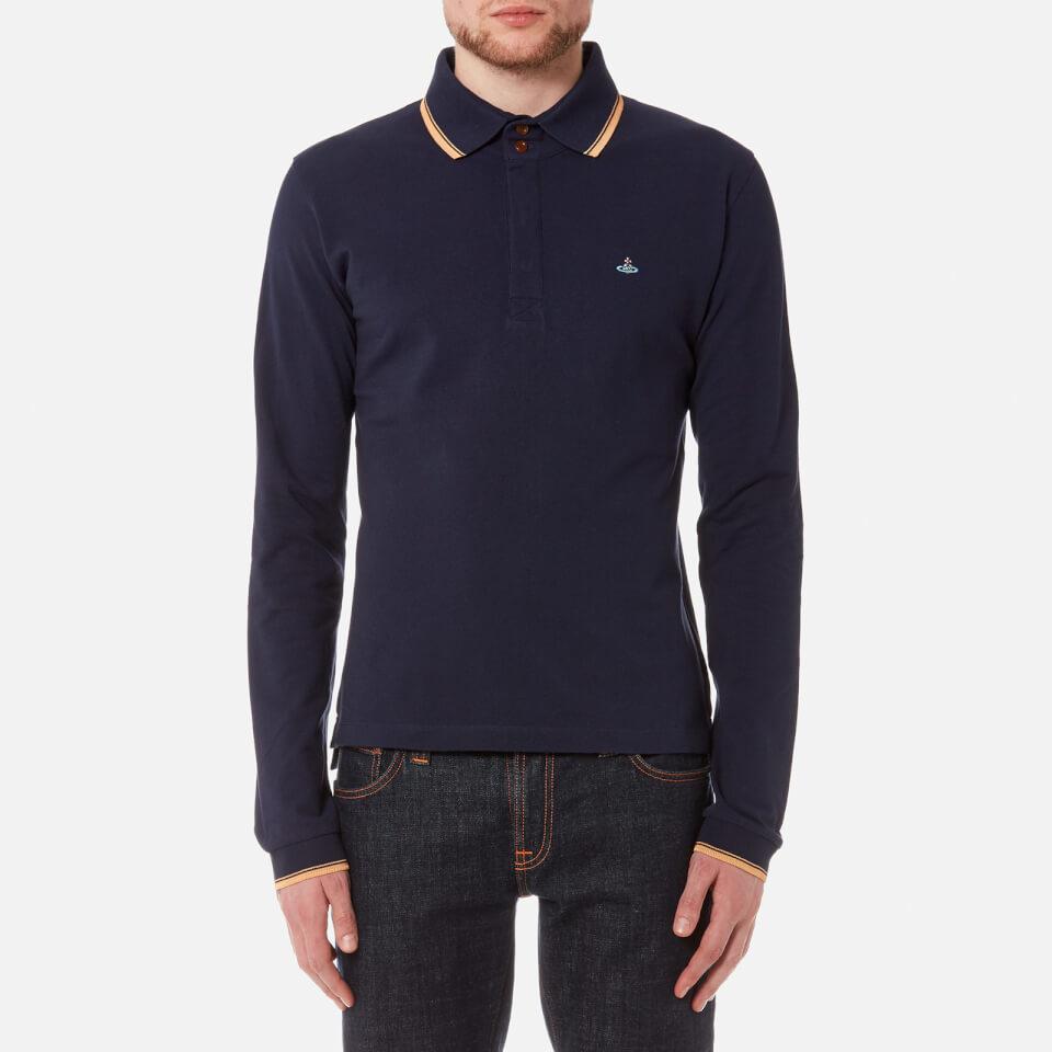 Vivienne westwood man men 39 s long sleeve pique polo shirt for Mens long sleeve pique polo shirts
