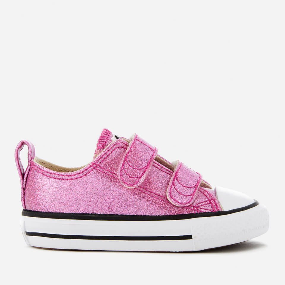 Converse Toddlers' Chuck Taylor All Star 2V Ox Trainers - Bright Violet/Natural/White - UK 3 Toddler - Pink