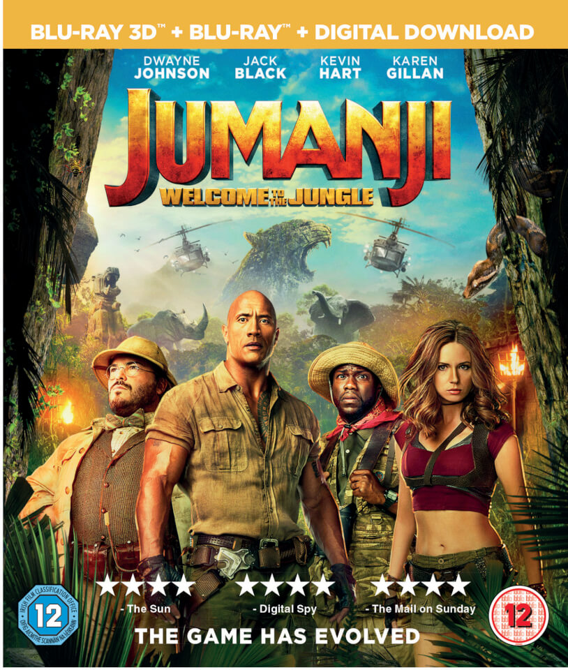 Jumanji Welcome To The Jungle 3d Includes 2d Version